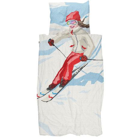 Snurk Beddengoed Snurk beddengoed dekbedovertrek ski girl multicolour textiel 140x200/220cm