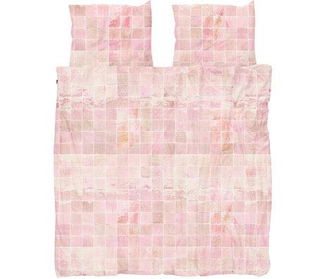 Snurk Beddengoed Snurk beddengoed dekbedovertrek Tiles Vintage Rose textiel 260x200/220cm