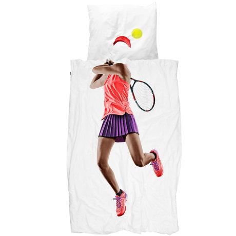 Snurk Beddengoed Snurk beddengoed dekbedovertrek tennis pro dark multicolour textiel 140x200/220cm