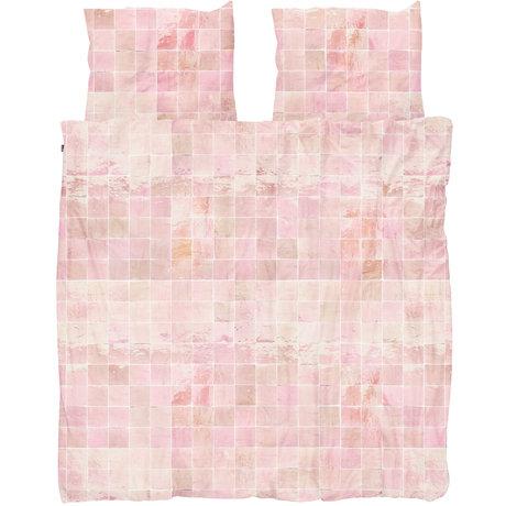 Snurk Beddengoed Snurk beddengoed dekbedovertrek Tiles Vintage Rose textiel 240x200/220cm