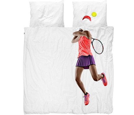 Snurk Beddengoed Snurk beddengoed dekbedovertrek tennis pro dark multicolour textiel 200x200/220cm