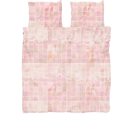 Snurk Beddengoed Snurk beddengoed dekbedovertrek Tiles Vintage Rose textiel 200x200/220cm