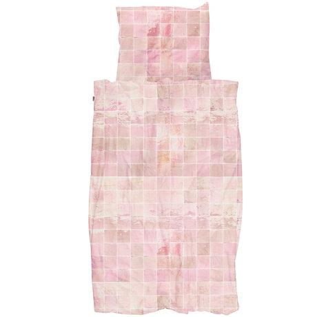 Snurk Beddengoed Snurk beddengoed dekbedovertrek Tiles Vintage Rose textiel 140x200/220cm