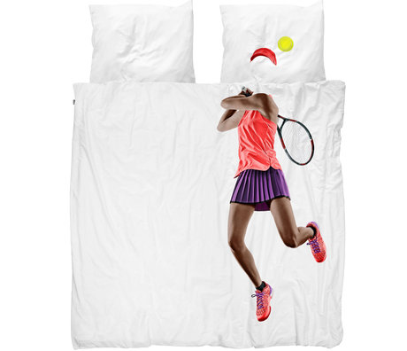 Snurk Beddengoed Snurk bedding duvet cover tennis pro dark multicolour textile 240x200 / 220cm
