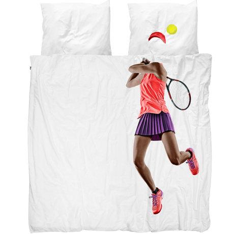 Snurk Beddengoed Snurk beddengoed dekbedovertrek tennis pro dark multicolour textiel 240x200/220cm