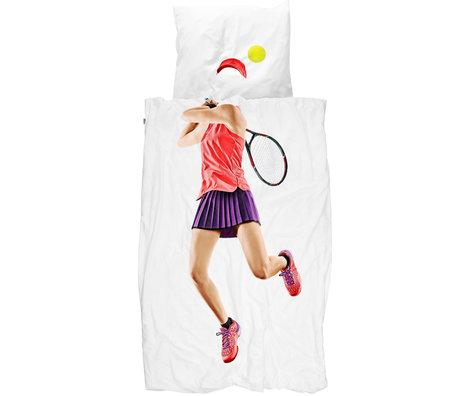 Snurk Beddengoed Snurk beddengoed dekbedovertrek tennis pro light multicolour textiel 140x200/220cm
