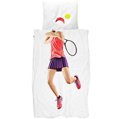 Snurk Beddengoed Snurk bedding duvet cover tennis pro light multicolour textile 140x200 / 220cm