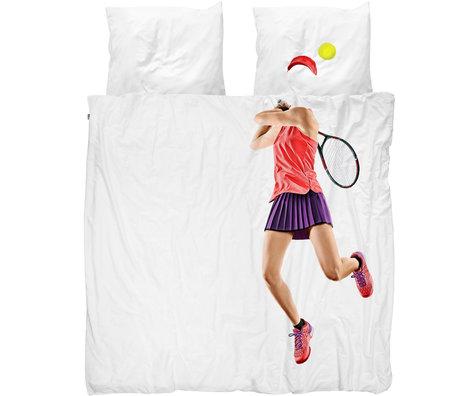 Snurk Beddengoed Snurk beddengoed dekbedovertrek tennis pro light multicolour textiel 200x200/220cm
