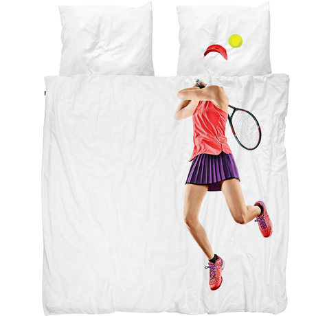 Snurk Beddengoed Snurk bedding duvet cover tennis pro light multicolour textile 200x200 / 220cm