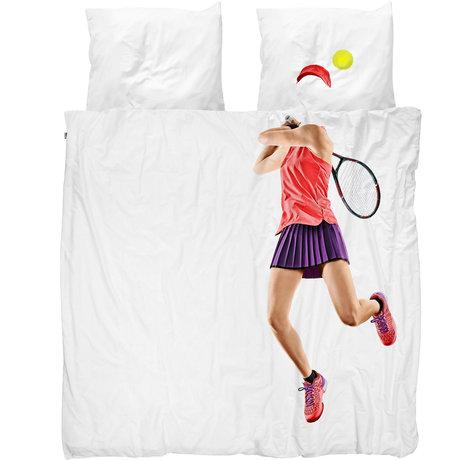 Snurk Beddengoed Snurk Bettwäsche Bettbezug Tennis Pro leichte mehrfarbige Textilien 200x200 / 220cm