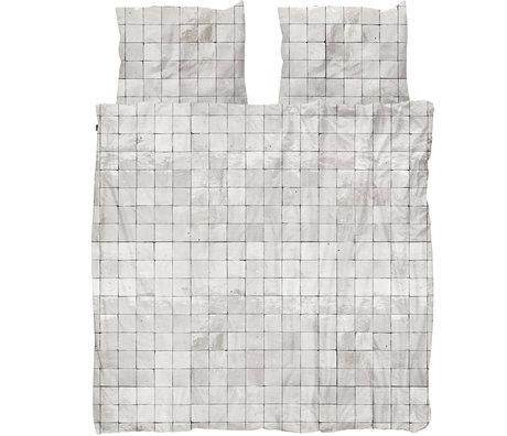 Snurk Beddengoed Snurk beddengoed dekbedovertrek Tiles Pearl White textiel 260x200/220cm