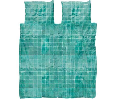 Snurk Beddengoed Snurk Bettwäsche Bettbezug Fliesen Smaragdgrün Textil 240x200 / 220cm