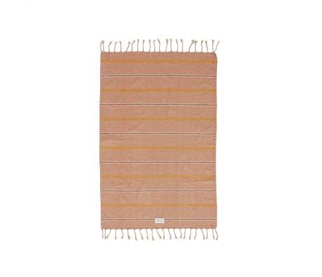 OYOY Handdoek Kyoto lichtbruin katoen 100x67cm
