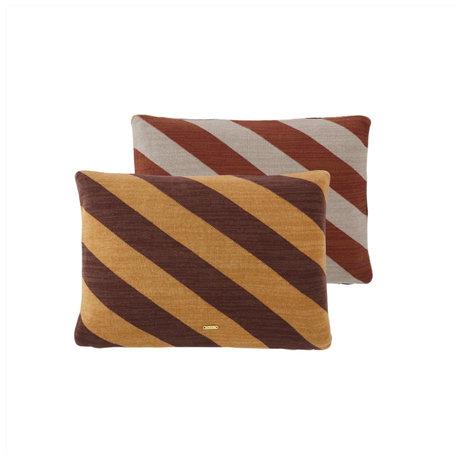 OYOY Kussen Takara gebroken bruin caramel katoen 35x50cm