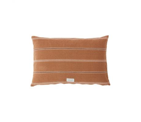 OYOY Kusen Kyoto lang bruin caramel katoen 40x60cm