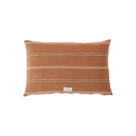 OYOY Kussen Kyoto lang bruin caramel katoen 40x60cm