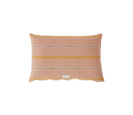 OYOY Kussen Kyoto lang roze oranje katoen 40x60cm