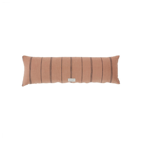 OYOY Kussen Kyoto extra lang bruin katoen 25x80cm