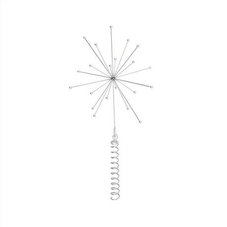 OYOY Kerst Topstar zilver metaal 24x23x23cm