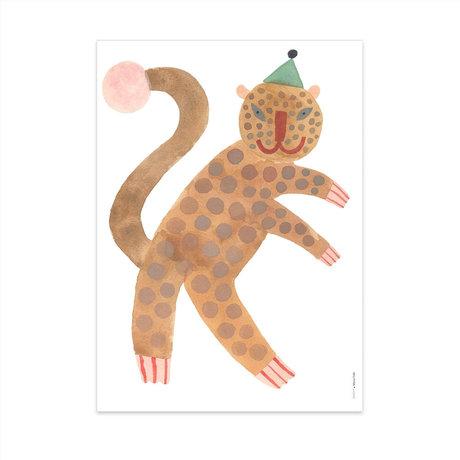 OYOY Poster Standing Leopard Elvis multicolor papier 70x50cm