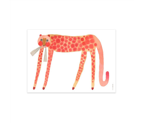 OYOY Poster Strawberry Cat multicolor papier 50x70cm