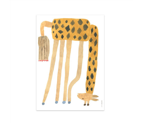 OYOY Poster Noah Giraffe Upside Down multicolor papier 70x50cm