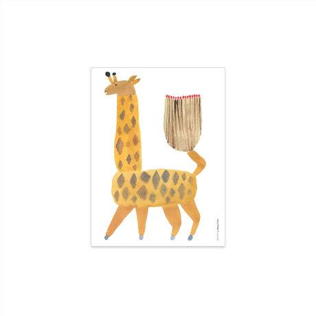 OYOY Poster Noah Giraffe multicolor papier 40x30cm