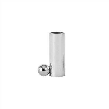 OYOY Kaarshouder Palloa large zilver metaal 7x4,5x2,6cm