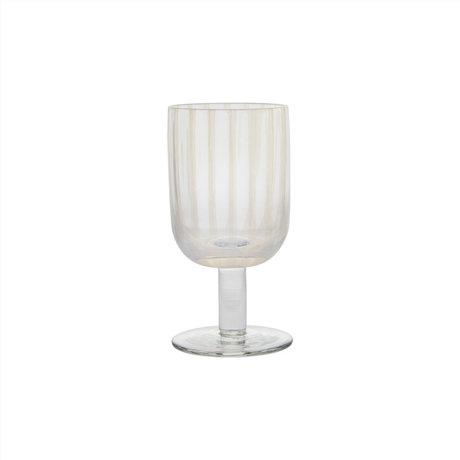 OYOY Wijnglas Mizu transparant set van 2 Ø7,7x15cm