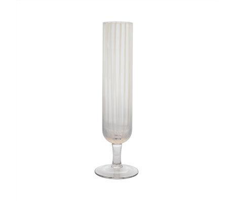 OYOY Champagneglas Mizu transparant set van 2 Ø4,5x22cm