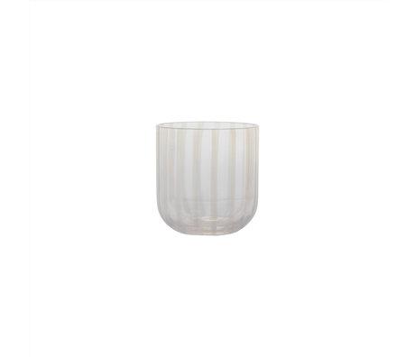 OYOY Glas Mizu transparant set van 2 Ø8x8,2cm