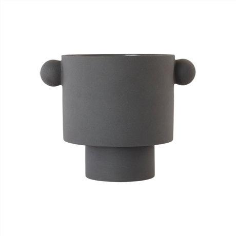 OYOY Pot Inka Kana large antraciet Ø30x23cm