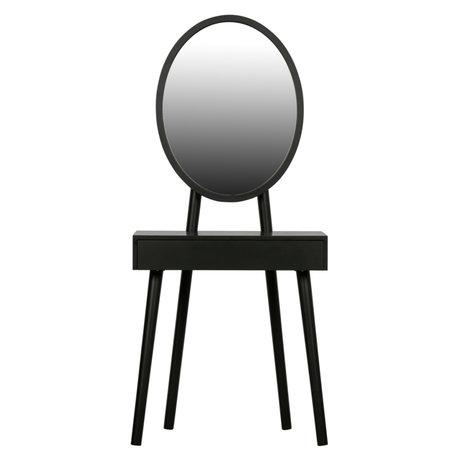 WOOOD Kaptafel Vanity zwart hout 147x65x42cm