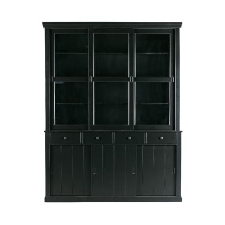 WOOOD Cupboard Lagos black pine 214x166x48cm