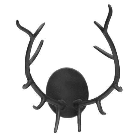BePureHome Decoratie Gewei Antler zwart metaal 50x34x32cm