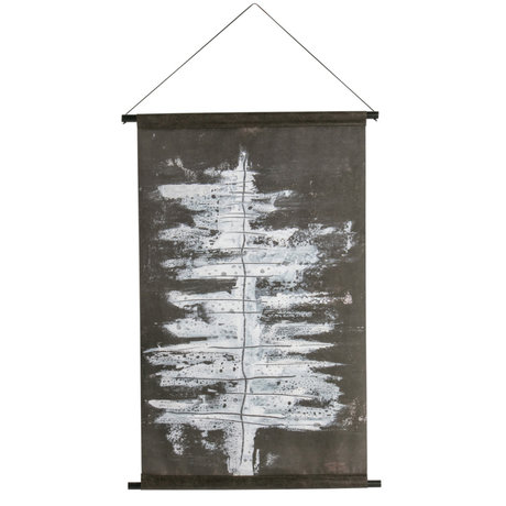BePureHome Poster Winter tree zwart wit fluweel 104x65x2cm