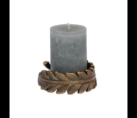 BePureHome Waxinehouder Clasp brons metaal 4x12x12cm