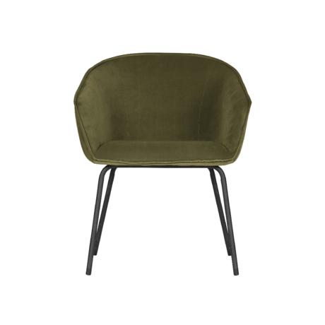 WOOOD Eetkamerstoel Sien groen fluweel set van 2 75x63x62cm