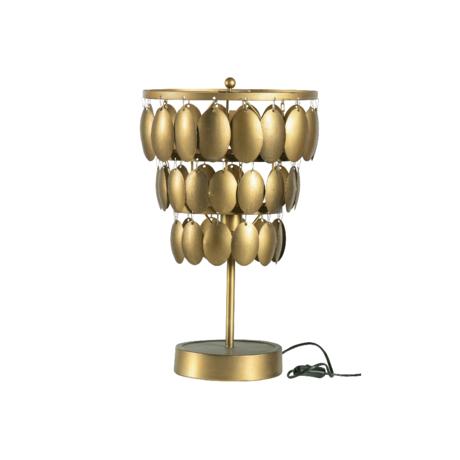 BePureHome Hanglamp Moondust goud metaal 58x34x34cm