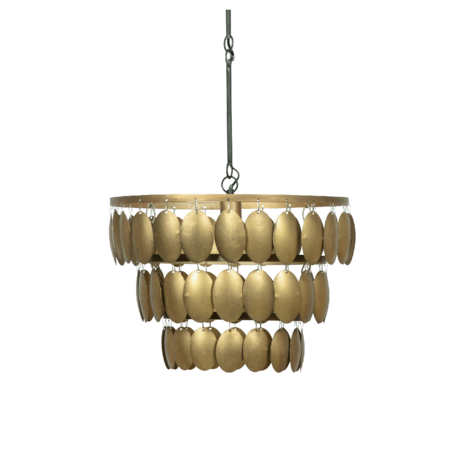 BePureHome Hanging lamp Moondust gold metal 40x48x48cm