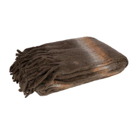 BePureHome Woondeken Wrap bruin multicolor wol acryl nylon 130x170cm