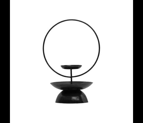 BePureHome Kandelaar Level zwart metaal 31x22x16cm