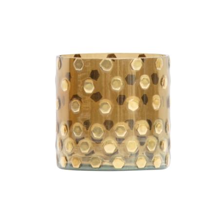 BePureHome Waxinelichthouder Shimmer goud glas Ø10x10cm