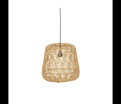 WOOOD Hanglamp Moza naturel bamboe 36x36cm