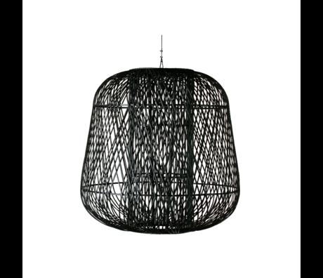 WOOOD Hanglamp Moza XL zwart bamboe 100x100cm