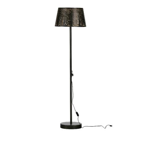 WOOOD Staande lamp Keto zwart goud metaal 161x42x42cm