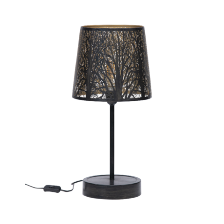 WOOOD Tafellamp Keto zwart goud metaal 56x28x28cm