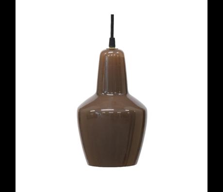 BePureHome Hanglamp Pottery coffee glas 33x22x22cm