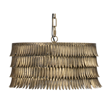 BePureHome Hanglamp Hawaii goud metaal 43x43x21cm