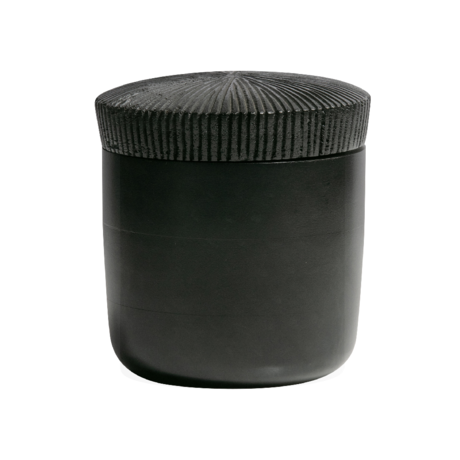 BePureHome Opbergpot Jar zwart hout Ø15x16cm